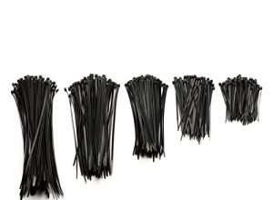 Kimedo® Profi Kabelbinder Set schwarz 500 Stück | 100 | 150 | 200 | 250 | 300 mm extra stark