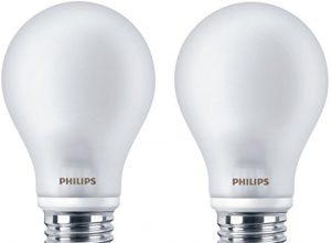 Philips LEDclassic Lampe ersetzt 60 W, E27, warmweiß 2700K, 806 Lumen, Doppelpack