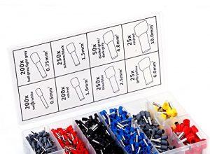 1200 Stueck Aderendhuelsen Aderendhuelse im Sortiment 0,5 – 10,00qmm Kabelschuhe Set Connector Isoliert Crimp