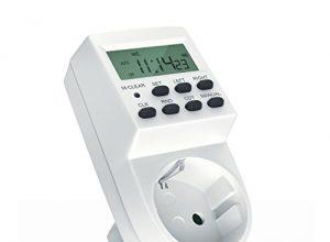 "digitale Zeitschaltuhr | 1,5"" LCD-Display | 3680W | 8 ON/OFF Programme | Zufallsschaltung + Countdown | 12/24h-Modus | Kinderschutzsicherung Steckdose | Back-Up Reserve-Akku"