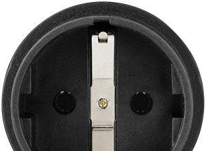 Hama Reisestecker USA Typ B Adapter für Costa Rica, Kanada, Kuba, Jamaika, geeignet für Geräte mit deutschem Schutzkontaktstecker, Euro- oder Konturenstecker