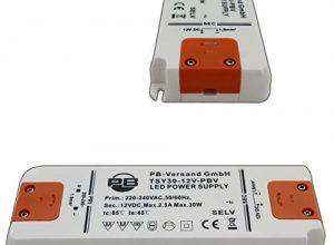 30 Watt Netzteil Treiber Transformator – PB-Versand® – 30 Watt LED Leuchmittel Trafo 12V DC Ultra-Slim flaches Design 1