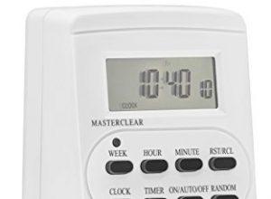 mumbi 23570-Zeitschaltuhr digitale 3600 W, programierbar, Zufallsschaltung, 12-24 h-Modus – GS-geprüft