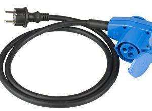 as – Schwabe 60483 Adapterleitung mit Winkelkuplung 230V / 16A / 3polig, 1,5m H07RN-F 3G2,5, IP44 Aussenbereich