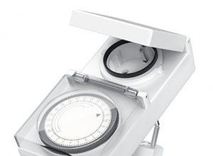 Arendo – mechanische Zeitschaltuhr Outdoor | 96 Schaltsegmente | Schieberegler für Zeitangabe | 3680W | IP 44 Schutzart Outdoor | spritzwassergeschützt | Kinderschutzsicherung