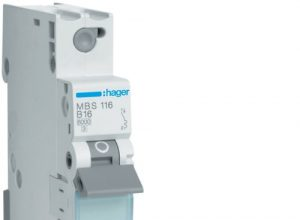 Hager MBS116 LS-Schalter 1P 6kA B-16A QC Quick Connect 1M