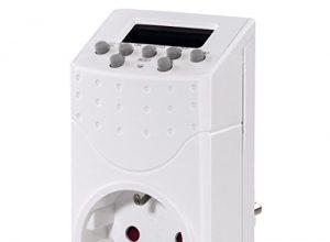 Hama Digitale Zeitschaltuhr Mini Steckdose mit Kindersicherung, minutengenaue Einstellung, unterschiedliche Programme weiß