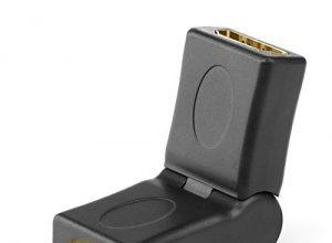 CSL – 4k HDMI Winkelstecker 180° neigbarer Winkel / Adapter | 4k Ultra HD 2160p / Full HD 1080p | CEC | ARC | HEC | HDCP | 24K vergoldete Kontakte | schwarz