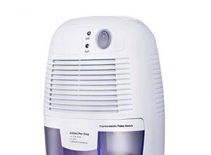 Luftentfeuchter, VicTsing Homasy 500ml mini elektronischer tragbarer und leiser Raumentfeuchter mit Luftreinigungsfunktion dehumidifier für Schlafzimmer, Kellerräume, Büro, Schrank usw.