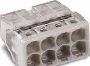 Wago COMPACT-Dosenklemme 8 x 0,5 -2,5 qmm, 50 Stück, grau, 2273-208