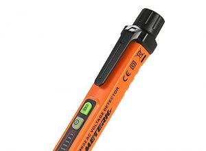 Meterk Berührungsloser Spannungsprüfer Detektor Multi Sensor Safe Spannung Messgerät mit Taschenlampe AC 12-1000V