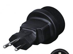 Hama Reisestecker Schweiz / Liechtenstein Typ J, Adapter für Geräte mit deutschem Schutzkontaktstecker, Euro- oder Konturenstecker