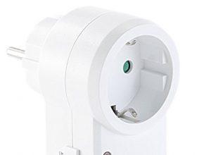 revolt Stecker Bewegungsmelder: Steckdose mit PIR-Bewegungsmelder & Schalter, IP20 Steckdosen mit PIR Sensor