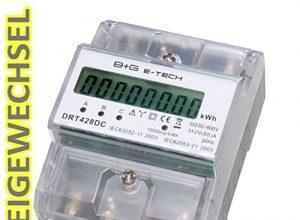 digitaler Stromzähler Drehstromzähler Wattmeter für DIN Hutschiene , Energiemessgerät mit Wattanzeige 3×230/400V 2080A – B+G E-Tech DRT428DC