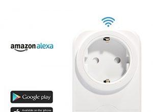 Expower WiFi Steckdose Intelligente Funksteckdose Kompatible mit Amazon Alexa Echo Plus Echo Dot und Google Home App Steuerung Zeitsteuerung für IOS und Android für Haus Büro Fernbedienungsschalter