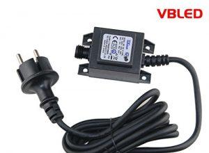 VBLED® 12W Netzteil / Trafo / Transformator 12V AC wassergeschützt IP67 für aussen / außen Input 230V Output 12V Anschluss IP44 1,9 m Kabel für Gartenspot / Gartenstrahler Max. 12W