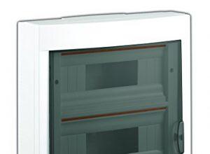 Aufputz Kleinverteiler 36 Module / Sicherungskasten / Verteilerkasten Aufputz IP40, 3-reihig mit Hutschiene + PE/N Klemmen