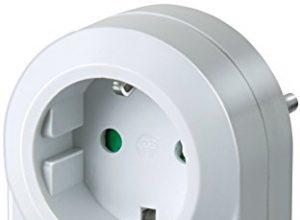 Brennenstuhl Zeitschaltuhr MMZ 20, mechanische Timer-Steckdose Tages-Zeitschaltuhr, Kindersicherung Farbe: weiß
