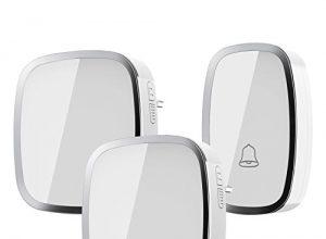 Kabellose Türklingel iLOME Doorbell 36 Klingeltöne Lautstärke einstellbar Ringgröße einstellbare 2 Empfänger 1 Sender