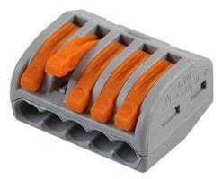 15 Stück Wago Verbindungsklemme 5 Leiter mit Betaetigungshebel 0,8-2,5 qmm