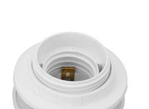 M88 – Einbau Fassung E27 Lampenfassung Sockel LED Kunststoff Einbaufassung