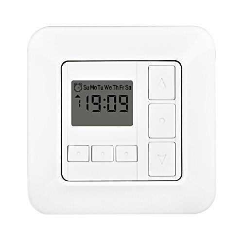 romotec rolladen zeitschaltuhr rz w50 rollladenzeitschaltuhr timer rolladenuhr uhr schalter. Black Bedroom Furniture Sets. Home Design Ideas