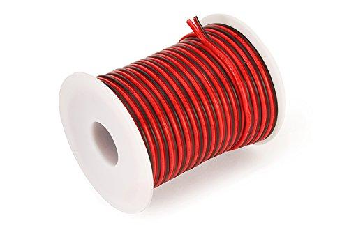 C-able 12V LED Strip Kable Rot Schwarz 15.5M 2×0.82mm2 18 AWG ...