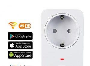WiFi Smart Steckdose, AOFO intelligente WLAN Steckdose smart Wifi Steckdose,funktioniert auch mit Amazon Alexa Echo and Echo Dot und Google Home, mit App Steuerung überall und zu jeder Zeit … Weiß 1 Packung