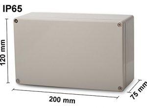 ABS Leergehäuse 200x120x75mm Industriegehäuse IP65 Kunststoff Gehäuse Box Kasten