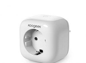 Koogeek Intelligente Steckdose Wi-Fi aktiviert Smart Plug funktioniert mit Apple HomeKit mit Siri Remote Control auf 2.4 GHz Netzwerk EU