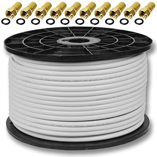7,5 mm 10x F-Verbinder Verbindung Sat Kabel Kupplung Buchse Anlagen ...