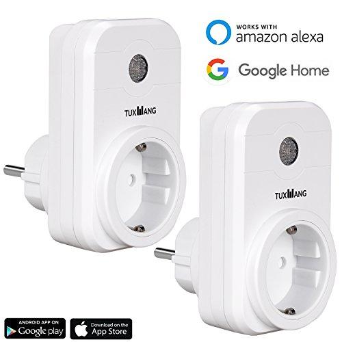tuxwang 2 st ck smart steckdose wlan intelligente steuerung mit app kann die handysteuerung. Black Bedroom Furniture Sets. Home Design Ideas