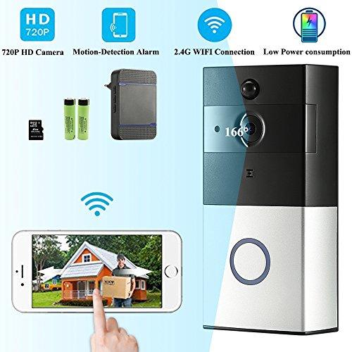 kabellos video t rklingel doorbell video t rklingel wlan aktiviert drahtlose t rklingeln mit. Black Bedroom Furniture Sets. Home Design Ideas