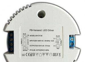 LED Trafo 12V DC 1-20 Watt rund Netzteil Treiber Transformator – ohne Mindestlast