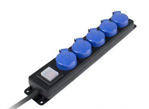 Schwabe Verteilersteckdose 5-fach, 4,5m Gummischlauchleitung H07RN-F 3G1,5, IP44 Aussenbereich, 38605 – as