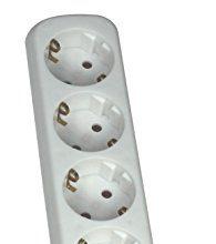 Schwabe 11711  Steckdosenleiste 6-fach geschraubt, weiß, ohne Leitung, IP20 Innenbereich – as