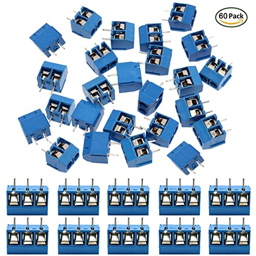 IZOKEE 60 Stücke 5,08mm 2 Pin / 3 Pin PCB Mount Screw Terminal Block ...