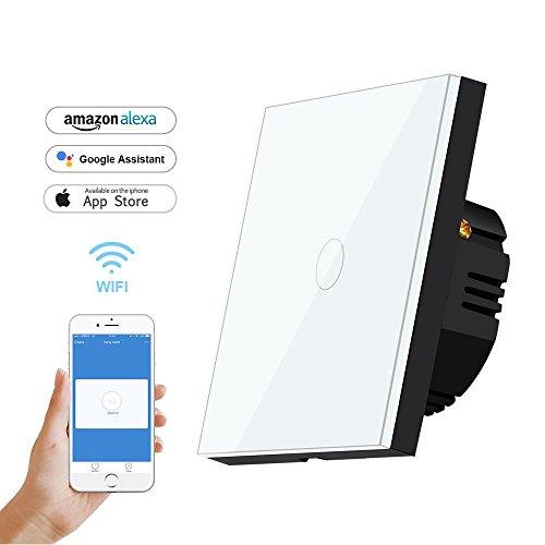 wlan lichtschalter bagotte smart home wifi schalter 1 weg. Black Bedroom Furniture Sets. Home Design Ideas