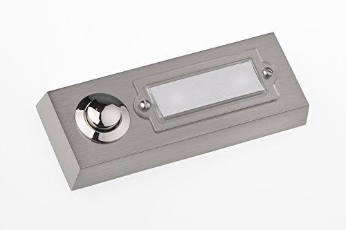 huber klingel klingeltaster 12003 3 fach aufputz rechteckig echtmetall mit namensschild aus. Black Bedroom Furniture Sets. Home Design Ideas