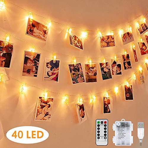 Led Bilder Weihnachten.Led Fotoclips Lichterkette Warmweiss Nasharia 5 Meter