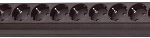 Brennenstuhl Eco-Line 10-fach Steckdosenleiste Steckerleiste mit Kindersicherung, Schalter und 3 m Kabel schwarz