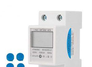Digitaler 1-phasiger 2-poliger 2P-DIN-Schienen-Stromzähler Elektronischer KWh-Zähler 220V 5 80 A