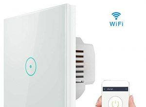 Smart lichtschalter, Wifi Smart lichtschalter arbeitet mit Amazon Alexa, Google Home, gehärtetes Glas Touchscreen-schalter mit Timerfunktion und Überlastungsschutz Energieklasse A++