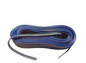 LitaElek 4-polig 20m RGB Verlängerungskabel Linie LED Kabel RGB Verbinder für SMD 5050 3528 2835 RGB LED Streifen Licht LED Strip Band Lampe20m/66ft