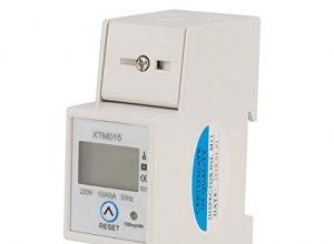 Digitaler 1-phasiger 2-poliger 2P-DIN-Schienen-Stromzähler Elektronischer KWh-Zähler 220V 10 40 A