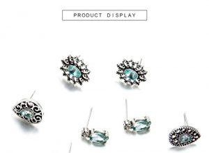 canvivi Bohemia Retro Fashion Diamant Nachahmung Saphir Ohrringe Damen Schmuck vier Sets