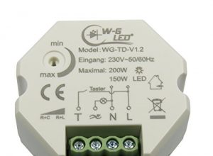230V Universal-Tast-Dimmer UP-Dose LED-Dimmer-Taster_150W LED o. 200W Halogen