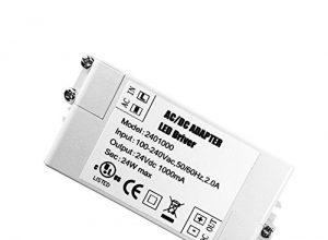 YAYZA! 1er-Pack Premium IP44 24V 1A 24W Niederspannungs-LED-Treiber-Transformator Gleich-Wechselstrom-Schaltnetzteil