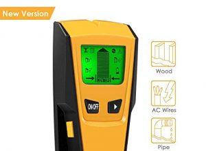Neue Version: INTEY 3 in 1 Ortungsgerät-Wand detektor mit 3 Modus für Metall Holz leitungssuchgerät, Multidetektor kabel detektor mit LCD-Display und Signalton für Stud