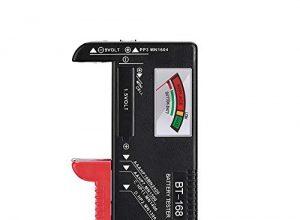 unibelin Batterietester, BT-168 Akku Testgerät Universal Batterieprüfergerät für AAA, AA, C, D, 1.5V, 9V und Andere Batterie Typen